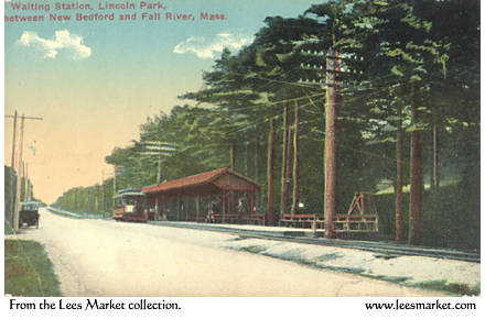 The waiting station from the road, what later would become Rt 6