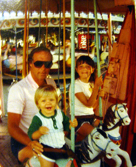 Corrie, Tracy and Tom McDermott on the Carousel 1985