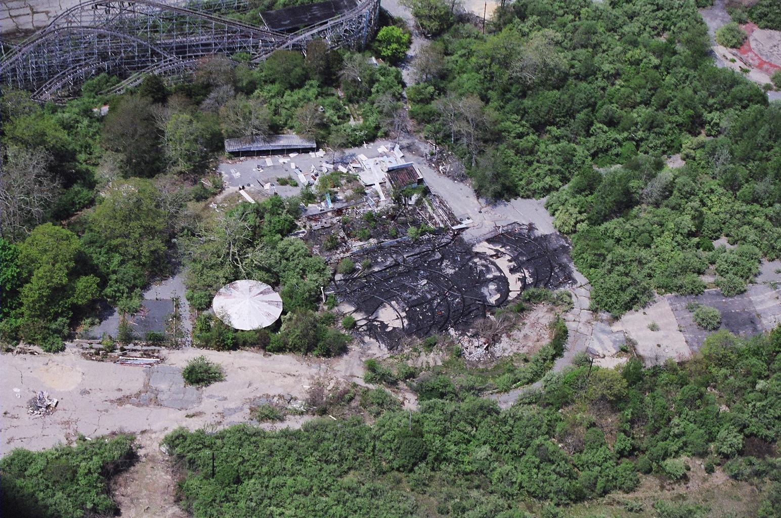 Burned out picnic pavilion