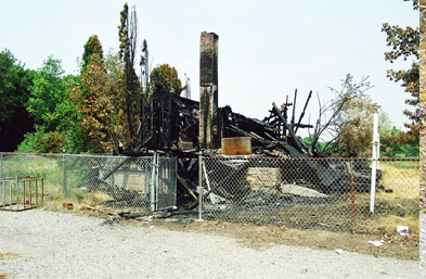 The burned LP House. 2002