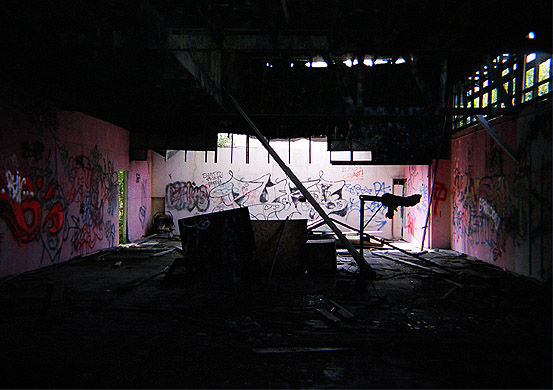Interior of the Fun house 2004