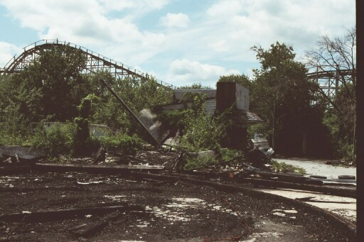 The burned out Pavilion. July 2003