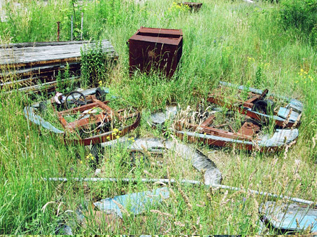 Parts of the boats from the Pirates Den. 2002
