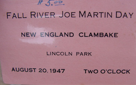 Clambake Ticket for 1947
